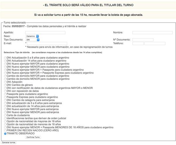 Turno dni mar del plata for Dni ministerio del interior turnos